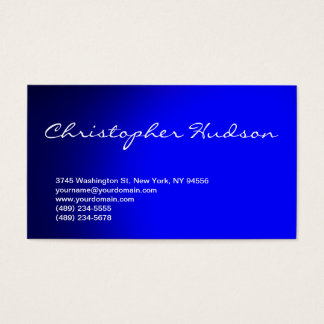 Blue Script Consultant Business Card