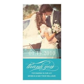 BLUE SCRIPT THANKS | WEDDING THANK YOU CARD