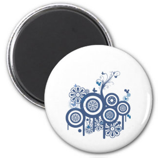Blue Scroll Magnet
