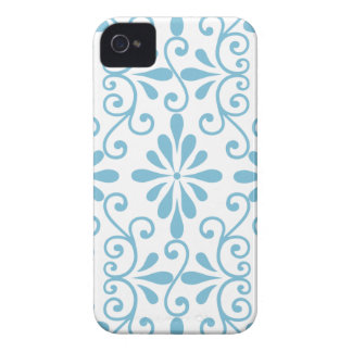Blue Scroll Work Barely There iPhone 4 Cover
