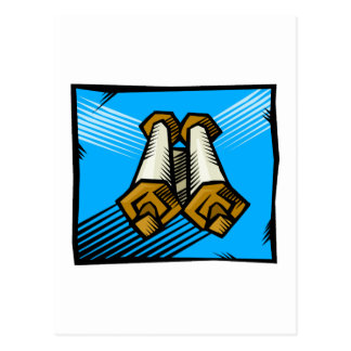Blue Scrolls Postcard