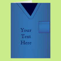Blue Scrubs Medical Uniform Greeting Card