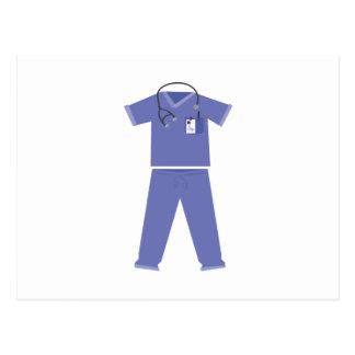 Blue Scrubs Postcard