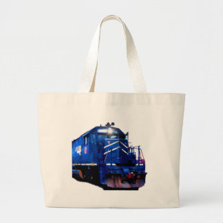 Blue SD-40 Locomotive Jumbo Tote Bag