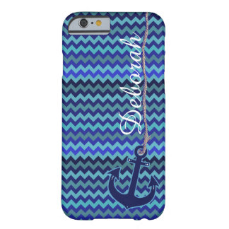 blue sea anchor personalized barely there iPhone 6 case