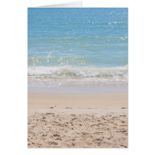 Blue Sea and Peaceful Waves Beach Photography Card
