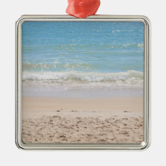 Blue Sea and Peaceful Waves Beach Photography Metal Ornament