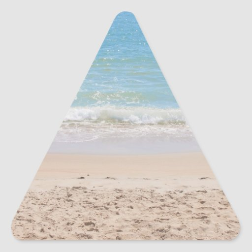 Blue Sea and Peaceful Waves Beach Photography Stickers