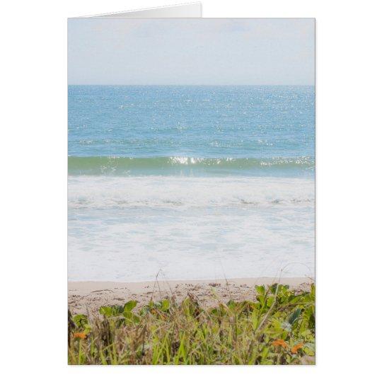 Blue sea Beach Photography Card