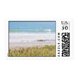 Blue sea Beach Photography Postage