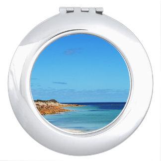 Blue_Sea_Breezes, _Ladies_Heart_Compact-Mirror. Espejo Maquillaje