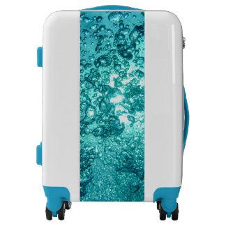 Blue Sea Bubbles Luggage