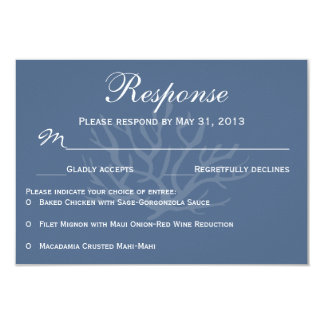 Blue Sea Coral RSVP Response Cards