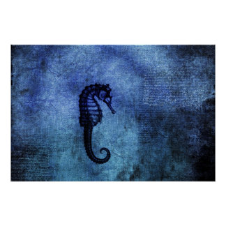 Blue Sea Dragon Poster
