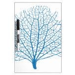 blue sea fan coral silhouette Dry-Erase whiteboards