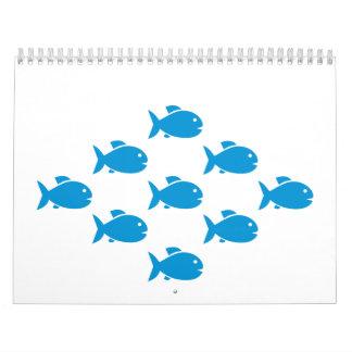 Blue Sea Fish Calendar