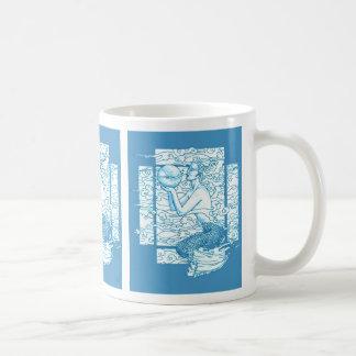 Blue Sea Gaia Sighs Classic White Coffee Mug