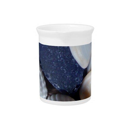 Blue Sea Glass Beverage Pitchers