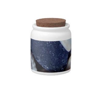 Blue Sea Glass Candy Jars