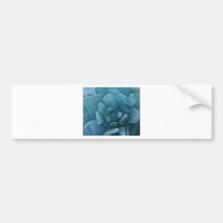 Blue Sea Glass Flower Bumper Sticker