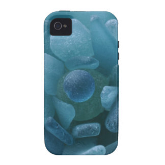 Blue Sea Glass Flower iPhone 4 Case