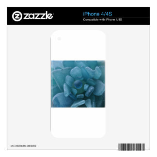 Blue Sea Glass Flower iPhone 4S Decals
