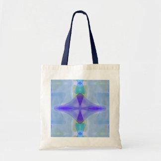 Blue sea glass gem pattern tote bag