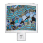 Blue Sea Glass Mosaic Night Light