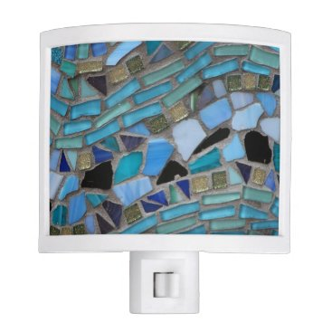 TheBeachBoutique Blue Sea Glass Mosaic Night Light