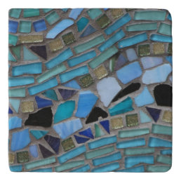 Blue Sea Glass Mosaic Trivet