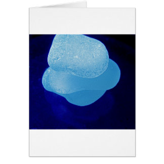 Blue Sea Glass Reflections Greeting Card