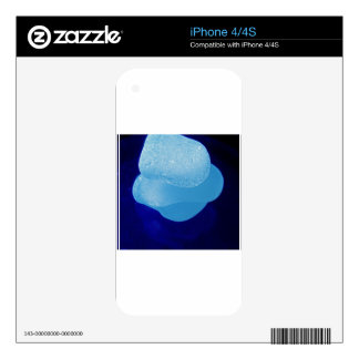 Blue Sea Glass Reflections Skin For iPhone 4S