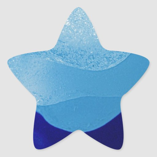 Blue Sea Glass Reflections Star Sticker