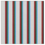 [ Thumbnail: Blue, Sea Green, Black, Dark Red, and Light Grey Fabric ]