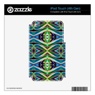 Blue Sea Green Pop Soothing Pattern iPod Touch 4G Skin