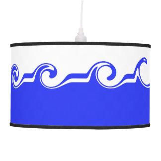 Blue sea hanging lamp