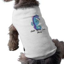 Blue Sea Horse Dog Shirt