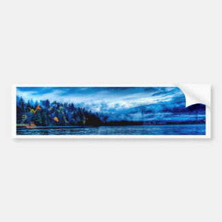 Blue Sea Island Landscape Bumper Sticker