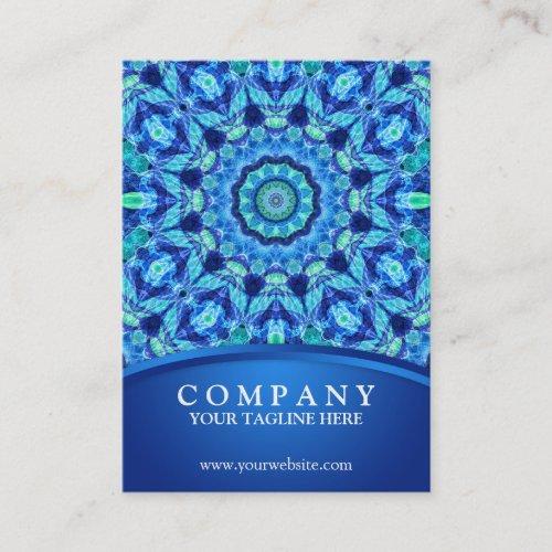Blue Sea Jewel Mandala Business Card
