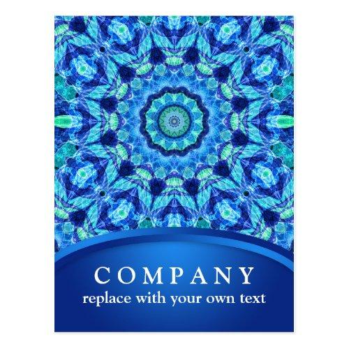 Blue Sea Jewel Mandala Postcard