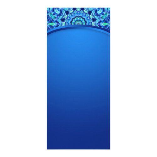 Blue Sea Jewel Mandala Rack Card