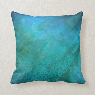 BLUE SEA | modern texture abstract Throw Pillow