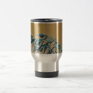Blue Sea Oats Brown Orange sky picture Coffee Mug
