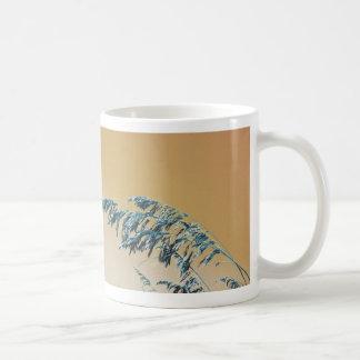 Blue Sea Oats Brown Orange sky picture Mug