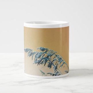 Blue Sea Oats Brown Orange sky picture 20 Oz Large Ceramic Coffee Mug