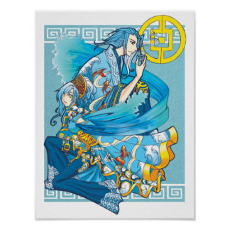 Blue Sea of White Waves poster