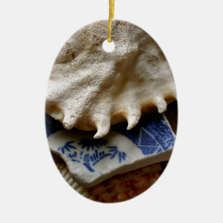 Blue Sea Pottery Christmas Ornaments