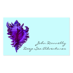 Blue Sea Shell Business Cards