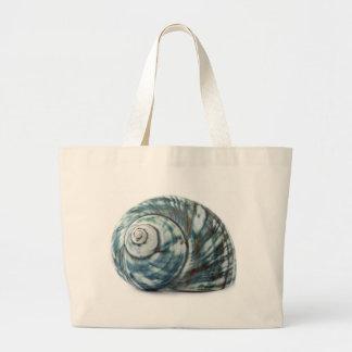 Blue Sea Shell Large Tote Bag