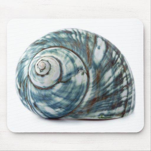 Blue Sea Shell Mouse Pad